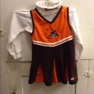 Girls 4T NFL Cleveland Browns Dress & Shirt